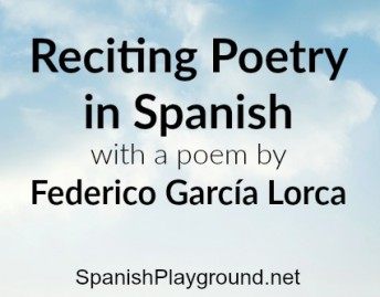 Reciting poetry in Spanish is an excellent language activity for children.