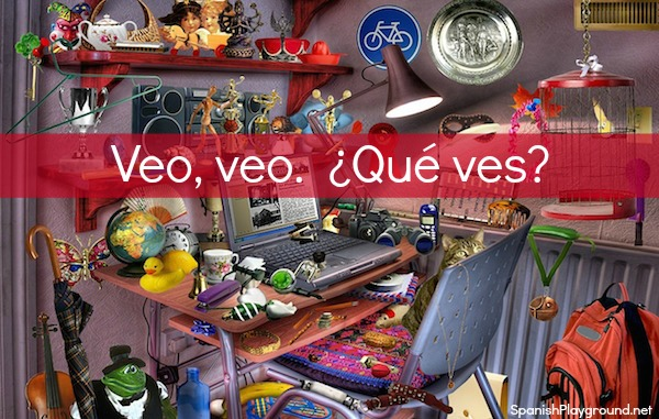 Veo veo is a great game to play with children learning Spanish.