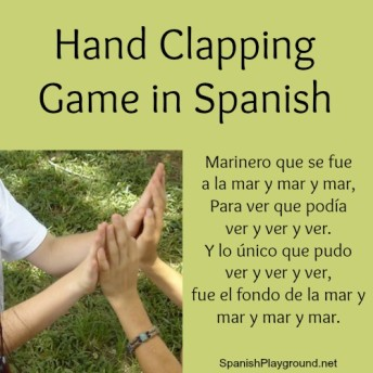 Hand clapping games in Spanish are fun and teach language.