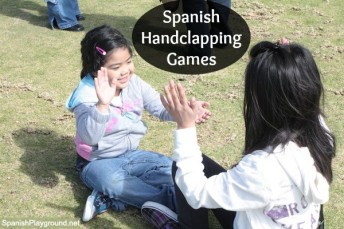 Hand clapping games in Spanish for kids.