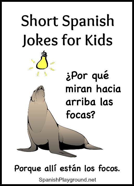 These short jokes for children learning Spanish teach common vocabulary.