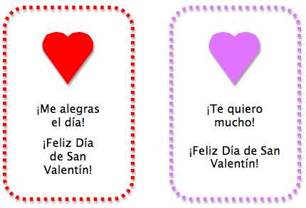 Spanish Valentines for Kids Cards and Activities Spanish Playground – San Valentines Cards