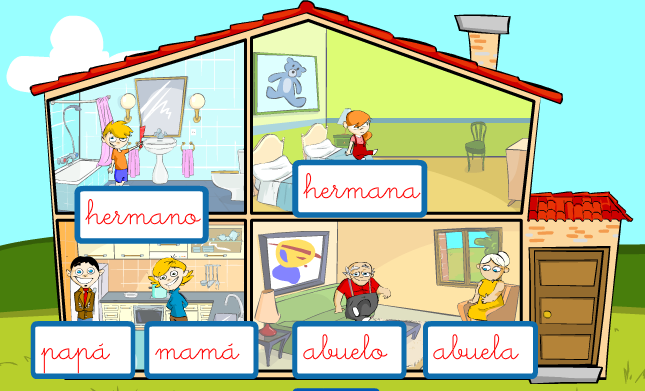 Spanish Game - Online Activities Teach Family and House Vocabulary ...