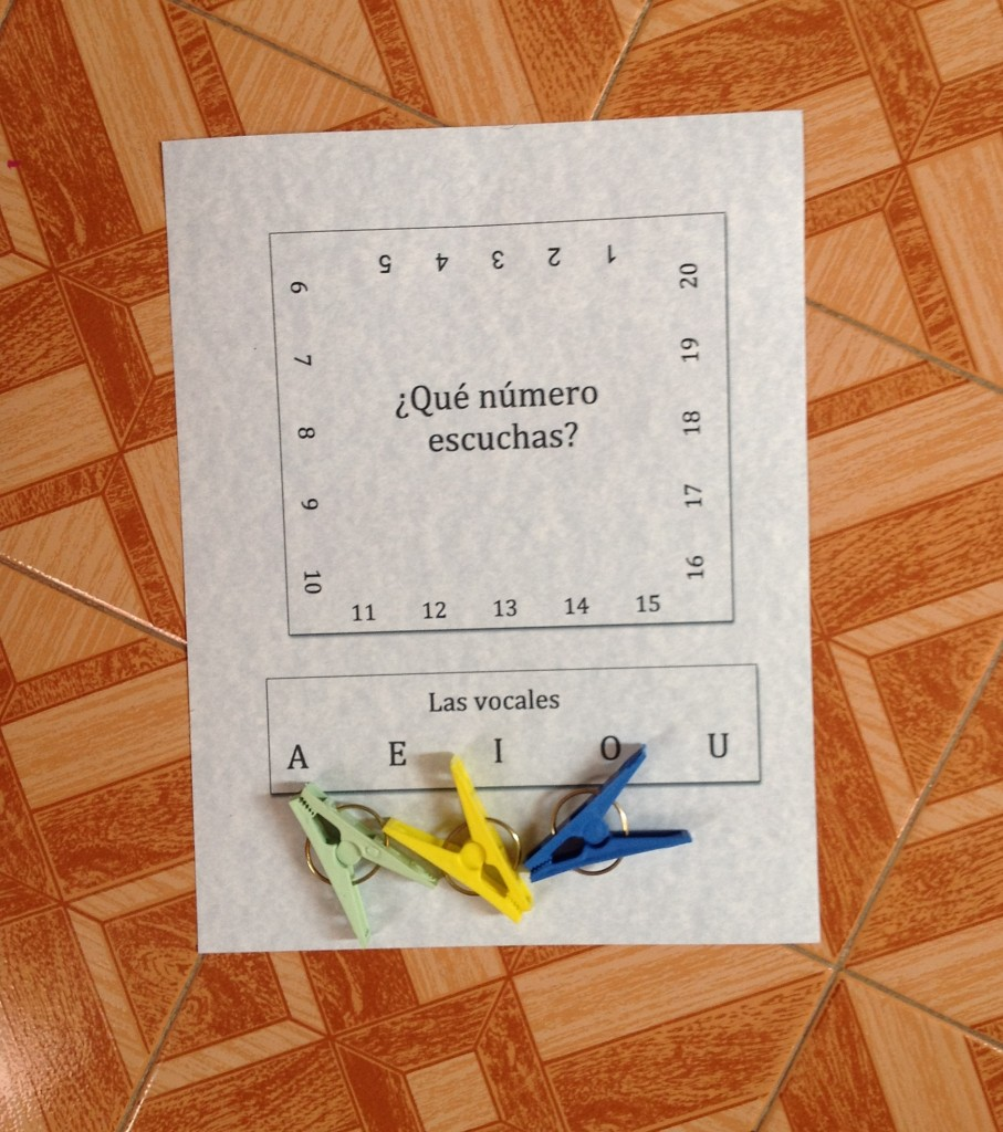 printable spanish activity