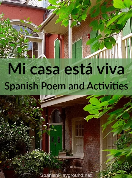 This Spanish poem for children has vocabulary about houses and homes.