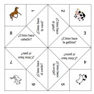 cootie catcher animals