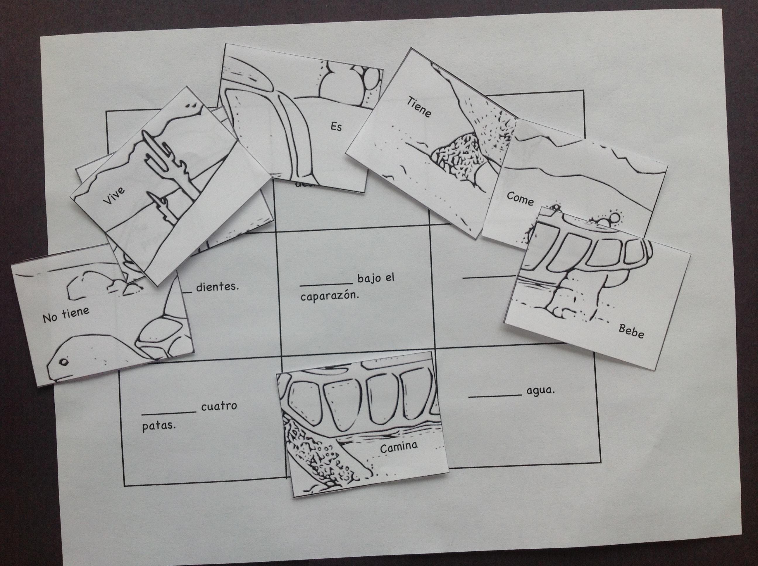 printable spanish puzzle