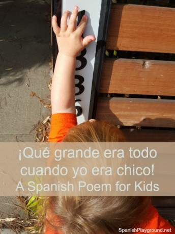 Children learn house and size vocabulary from this Spanish poem.