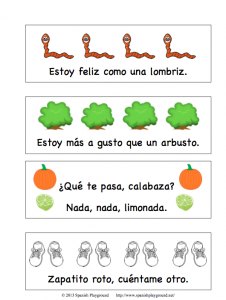 printable spanish bookmarks