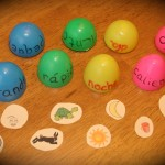 Spanish Games for Kids - Matching with Plastic Eggs