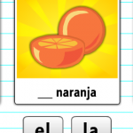 Spanish Online Activity for Kids - Practicing Gender with OnlineFreeSpanish