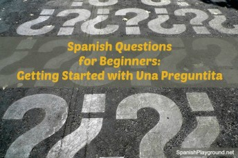 Spanish questions for beginners to use in games.