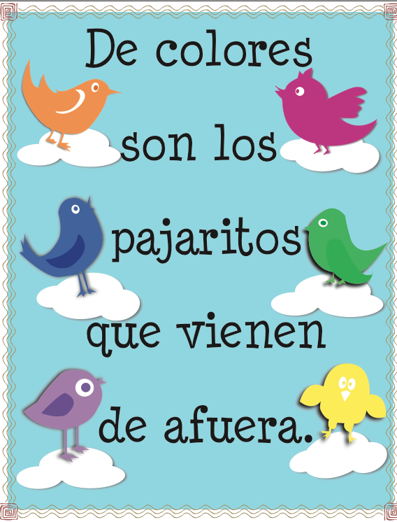Spanish Song for Kids and Free Printables - De Colores - Spanish ...