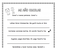 spanish printable end school