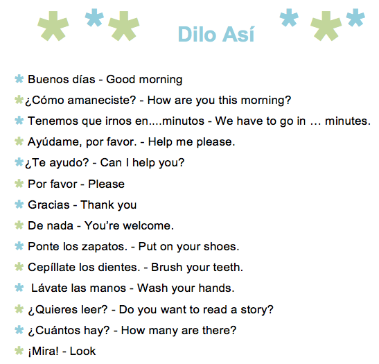 61 Common Spanish Phrases to Use With Kids - A Printable List ...