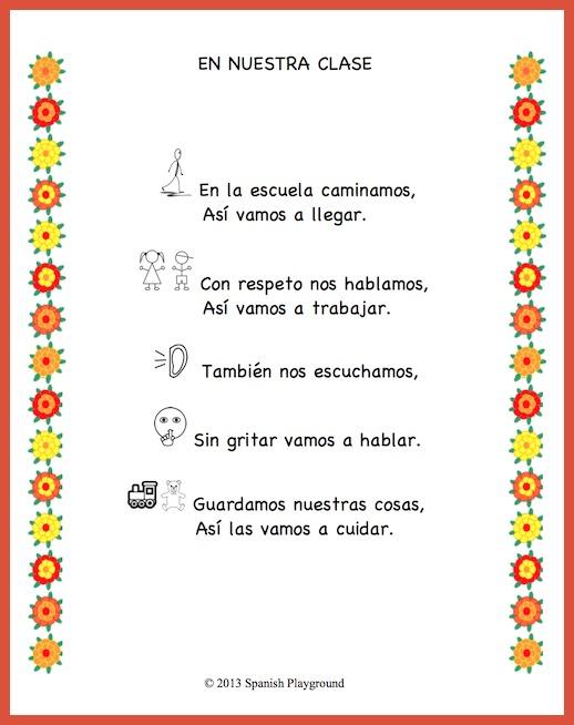 Class Rules in Spanish | Spanish Playground
