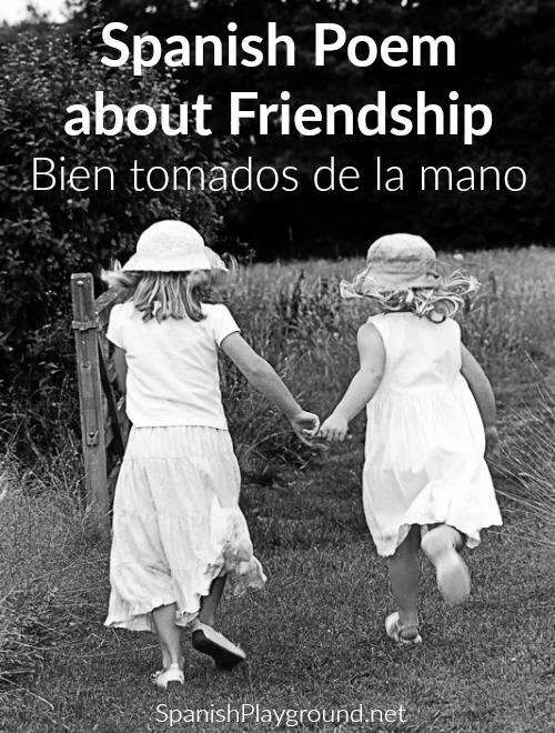 This Spanish poem for kids has new vocabulary for talking about friendship.