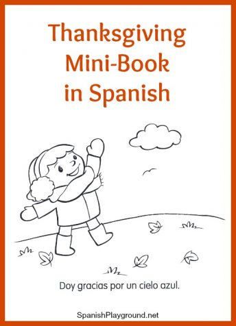 Kids learn basic vocabulary as they read and color a Spanish Thanksgiving minibook.