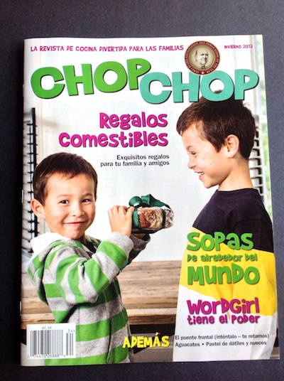 Recipies for kids in Spanish from the magazine Chop Chop.