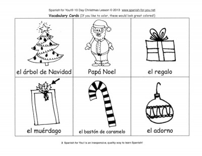 spanish christmas lesson
