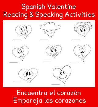Spanish Valentine Reading and Speaking Activities