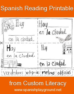 spanish reading printable custom literacy book 3