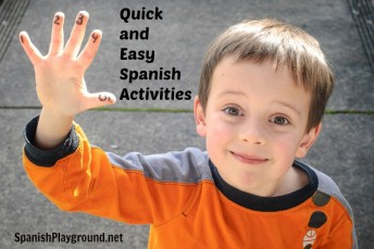 Quick and easy Spanish activities for kids.