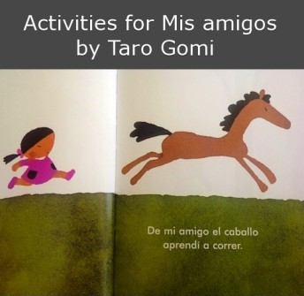 Activities for a picture book to teach Spanish animals.
