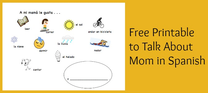 A spanish mothers day activity for children using basic vocabulary and gustar.