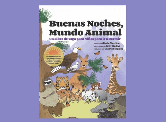 A spanish story for kids with yoga.
