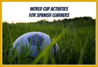 World cup printable activities for kids learning Spanish.