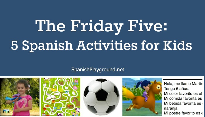 Easy spanish activities for kids.