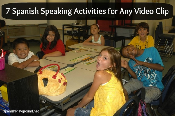 These Spanish speaking activities can be used with any video clip and are fun for kids.