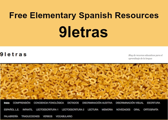 free elementary spanish resources 9letras spanish playground. Black Bedroom Furniture Sets. Home Design Ideas