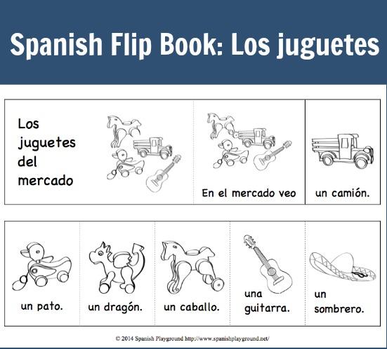 A flip book in Spanish to teach children the verb ver.