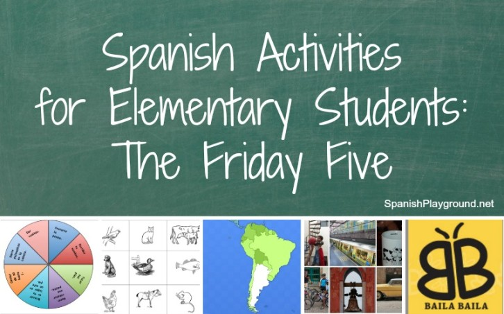Five Spanish activities for elementary students that require no preparation.