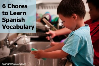 These six chores help children learn Spanish vocabulary for household items and clothes.