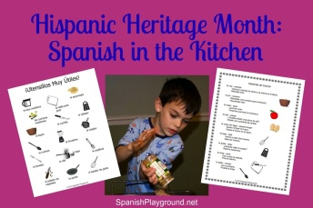 Hispanic heritage month activity with kids.