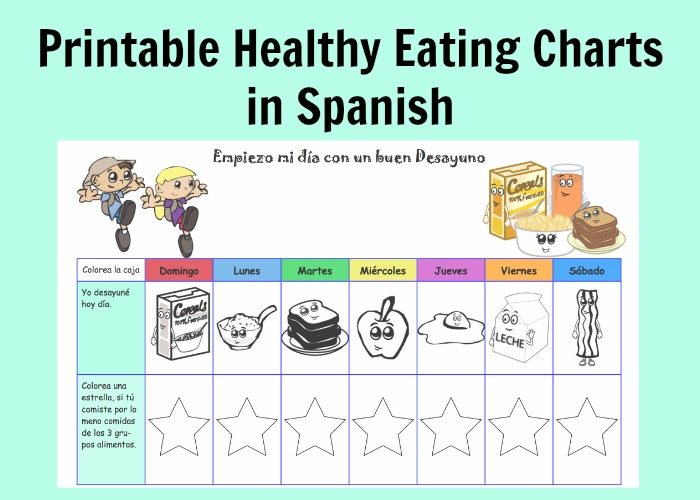 Kids learn the Spanish days of the week and food vocabulary from these meal charts.