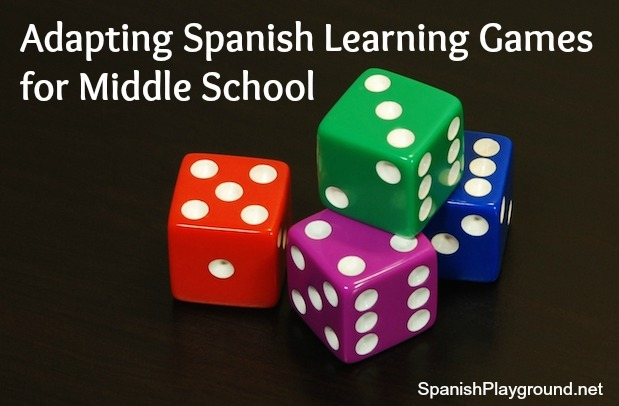 Spanish learning games for kids in middle school.