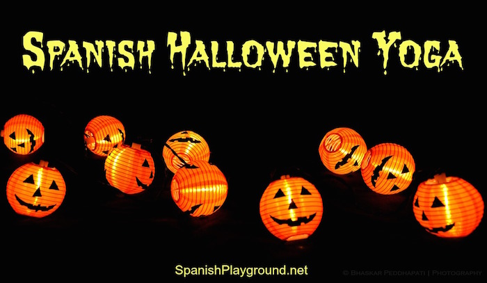 Spanish Halloween yoga sequences for kids.