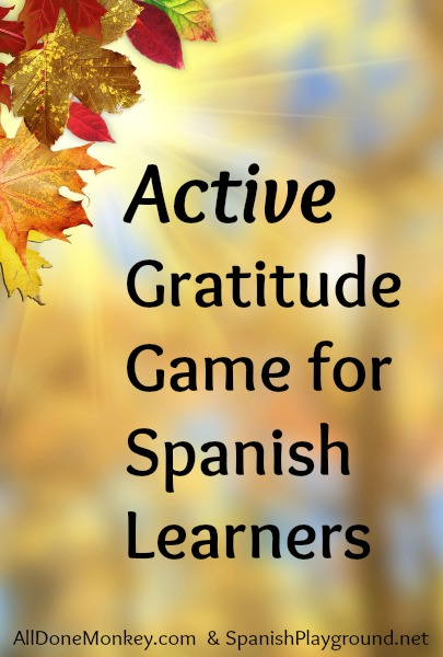 Thanksgiving activities for kids like this gratitude game can also be an excellent source of language.