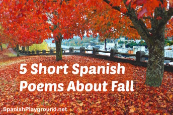 Short spanish poems about fall to read with children.