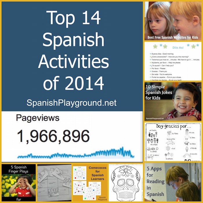 Top Spanish activities for kids in 2014 from Spanish Playground.