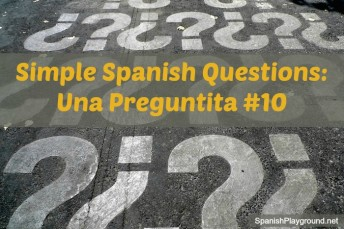 Simple Spanish questions for games with kids.