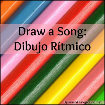 Draw a Spanish song is a language activity using art and music.