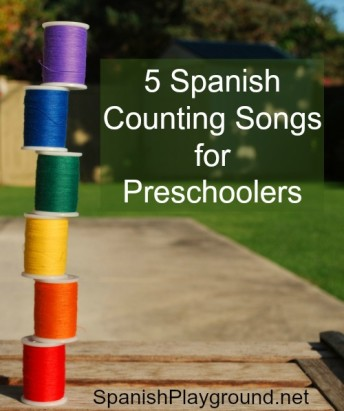 Spanish counting songs to teach preschoolers the numbers from one to ten.
