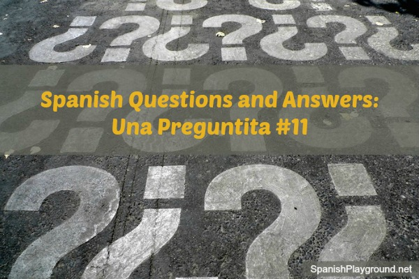 Spanish questions and answers to use with kids for games and activities.