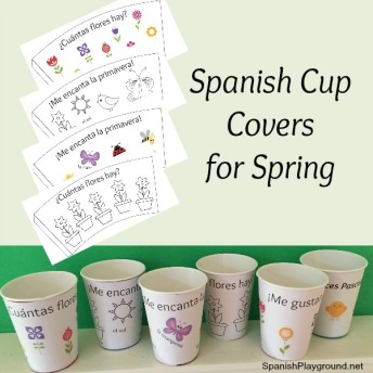 Spanish cup covers for spring |Spanish Playground