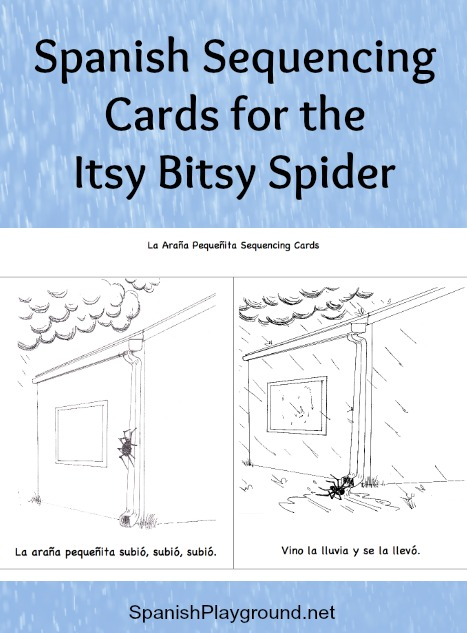 Spanish Sequencing Cards: The Itsy Bitsy Spider - Spanish Playground
